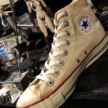 90,s vintage U.S.A.  ALL STAR フラッグシップカラーNATURAL CANVAS Hi オールドモデル極上美品スペシャルプライス