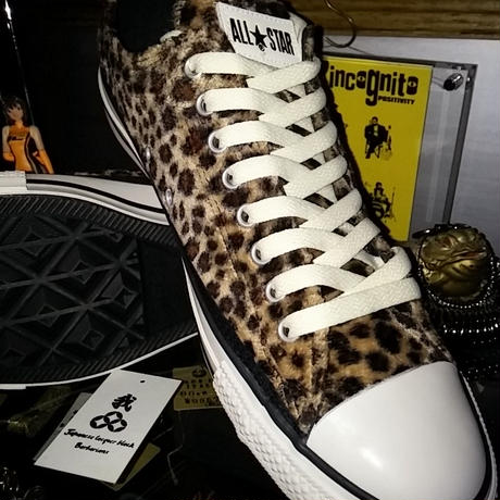CONVERSE 15,s Limited model 起毛LEOPARD ALL STAR Low極上未使用品