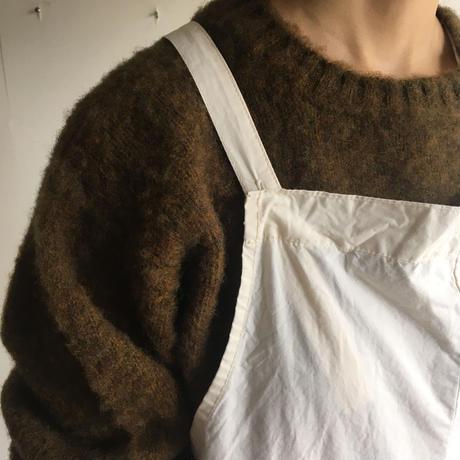Shetland Woollen Co.  Shaggy dog sweater( Dark Olive-L )