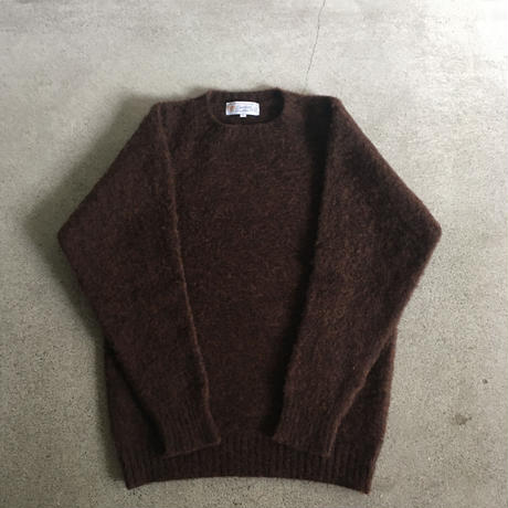 Shetland Woollen Co.  Shaggy dog sweater( Coffee-M/L )