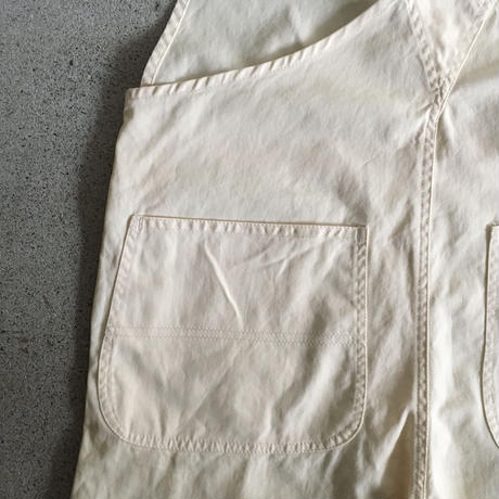 Yarmo  Bib and Brace Overall Cotton Twill(Natural)