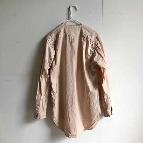 Yarmo  Band Collar Shirts(Beige)