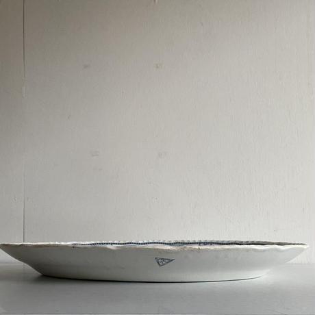 """Pountney & Bristol  """" Kendal Pattern """" Oval plate( 45.8cm )"""