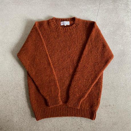 Shetland Woollen Co.  Shaggy dog sweater( Rust-XL )