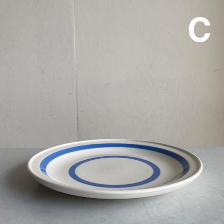 Blue x White Breakfast Plate( A )