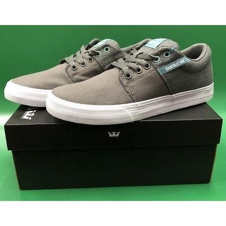 "Supra / ""Stacks Vulc 2"" Grey / A.White 8.5inch (26.5cm)"