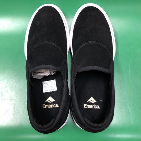 "EMERICA / ""Wino G6 Slip-On"" Black / White / Gold 9inch (27cm)"