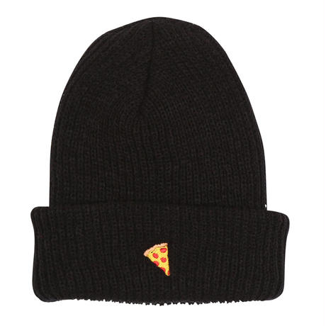 "Pizza / ""Emoji Beanie"" Black"