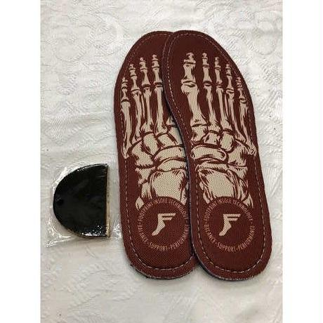 """Footprint Insole / """"Skeleton Red"""" 9~9H 5mm"""