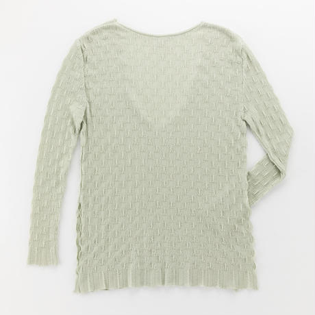 wavy ribbed pullover