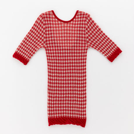 gingham check half sleeve top