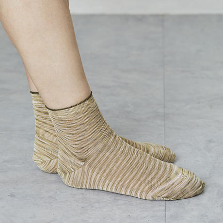 space dyed silk ribbed socks