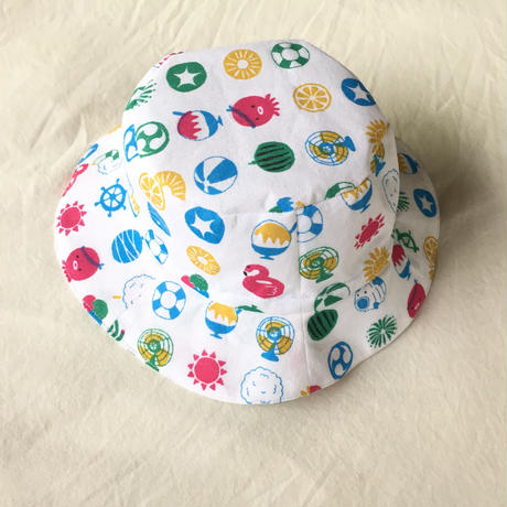 子供用帽子(52-56)ダウンロード型紙