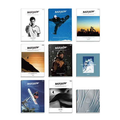 BACKSIDE SNOWBOARDING MAGAZINE ISSUE 1〜9 set
