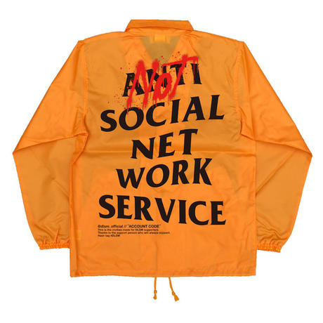 """18SS""  DLSM ディーエルエスエム NOT ANTI SNS COACH JACKET  -Orange-"
