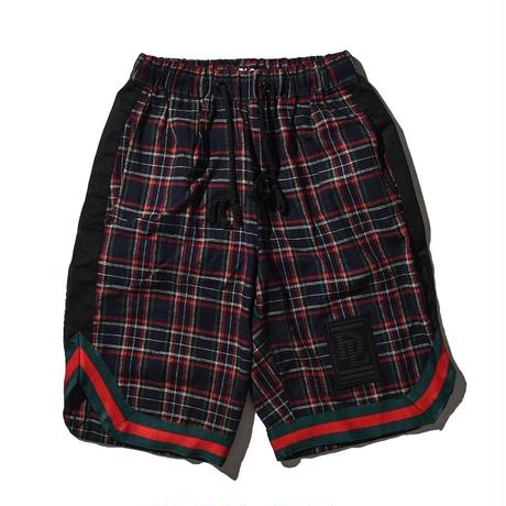 """18SS""DLSM ディーエルエスエム DLSM CHECK  COTTON BASKETBALL SHORTS -Black-"