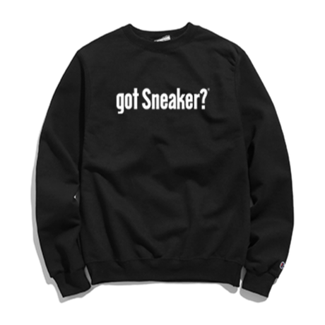 """19SS""   PANDEMIC×CHAMPION  got Sneaker massege  Sweat    -Black-"