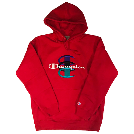 USED(新品未使用) Supreme シュプリーム Supreme×Champion Stacked C Hooded Sweatshirt -Red-