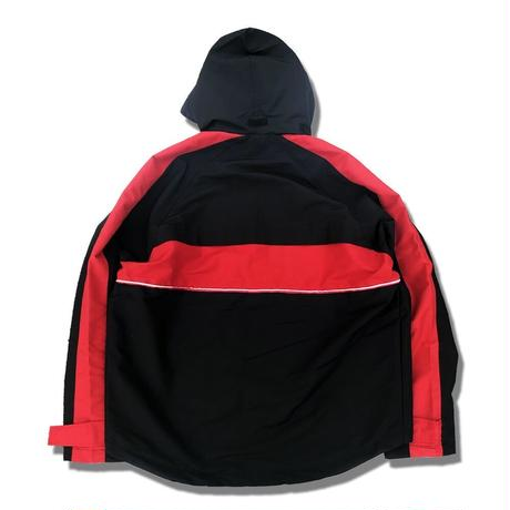 """19SS"" DLSM ディーエルエスエム DUALISM MEMBERS ONLY ZIP NYLON PARKA -Red/Black-"