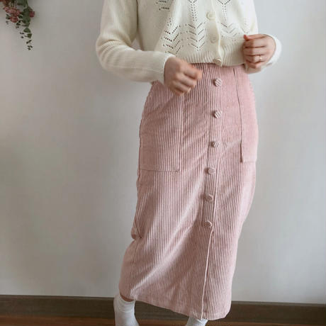 Botton long Skirt 【pink】