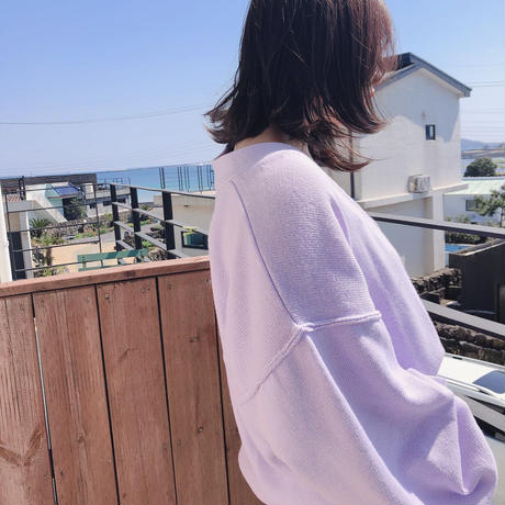 Volume Cardigan 【Purple 】