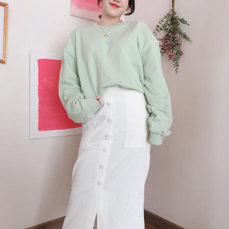 Botton long Skirt 【Ivory】