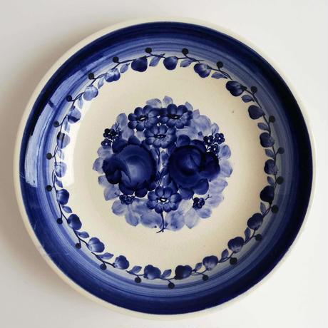 ヴウォツワヴェク陶器 平皿(直径24cm)#3114