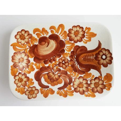 ヴウォツワヴェク陶器 長方形の飾り皿 #3567
