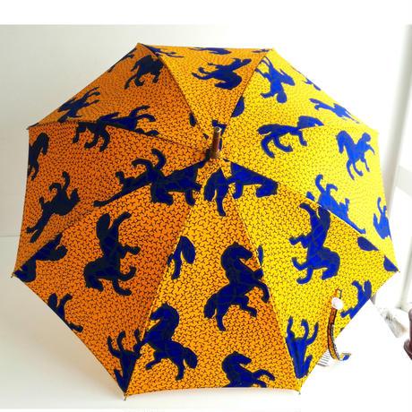 アフリカンプリント 晴雨兼用傘 馬