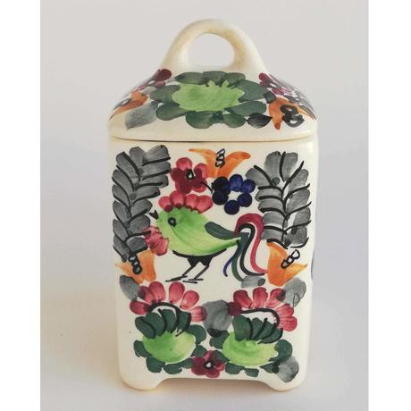 ヴウォツワヴェク陶器 蓋つきケース #3508