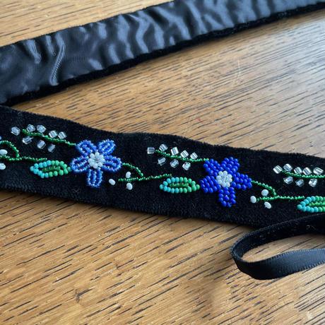 ポーランド ウォヴィチ刺繍 ベルト 青系 C(87cm)