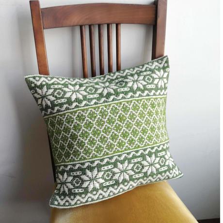 ヤノフ村の織物 クッションカバー 幾何学模様(38×34cm)#2383