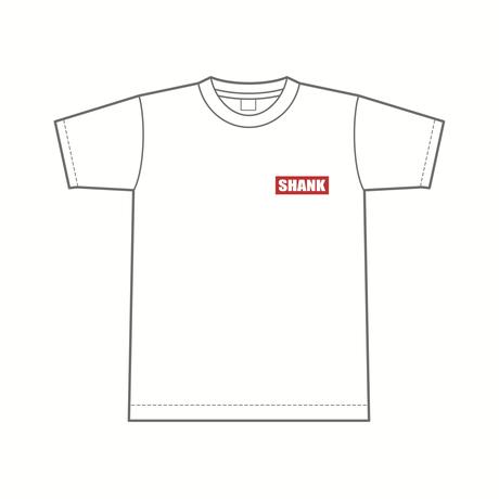 刺繍1P BOXロゴ Tシャツ [カラー:ホワイト-レッド]