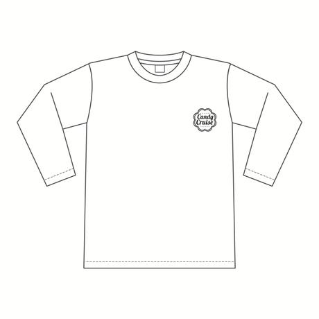 Candy Cruiseロゴ ロングスリーブTシャツ [カラー:ホワイト]
