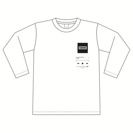 """GND"" ロングスリーブTシャツ [カラー:ホワイト]"