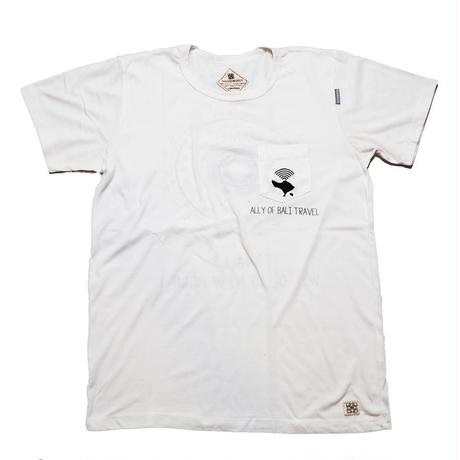 【白】バリ島旅行のみかたTシャツ_Ver1