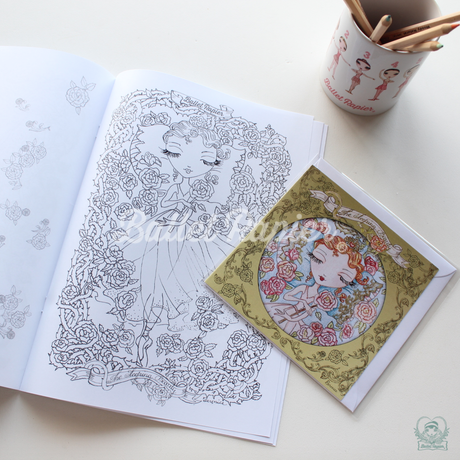 【再入荷】COLORING BOOK 'SLEEPING BEAUTY'  ぬりえ