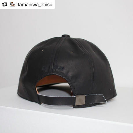 POTEN × BALL TOWN ALL LEATHER CAP【BLK】