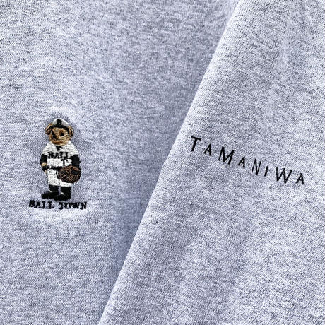 【BALL TOWN®︎ × TAMANIWA】  BASE BALL BEAR L/S TEE