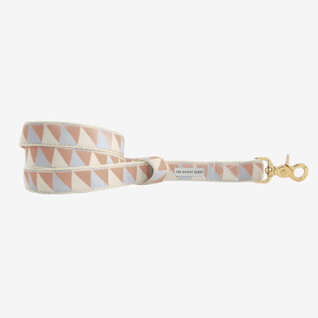 SEE SCOUT SLEEP Original Leash - Nice Grill Ice Blue, Camel & Ivory (細タイプ)