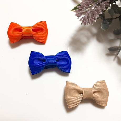 ベビーヘアクリップ*シンプルカラー 全3色
