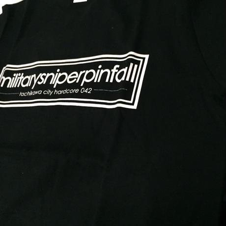 militarysniperpinfall【Tシャツ】  ブラック×ホワイト