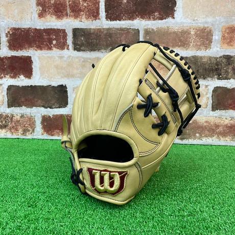 【限定】ウイルソン 硬式グローブ WTAHWH87H 高校野球対応 ブロンド 型付け無料