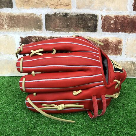 【限定】ウイルソン 硬式グローブ WBW100756(D8型) 高校野球対応 Eオレンジ 型付け無料
