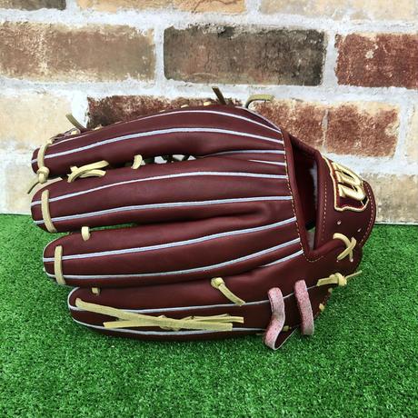【限定】ウイルソン 硬式グローブ WBW100758(D8型) 高校野球対応 ブリック 型付け無料