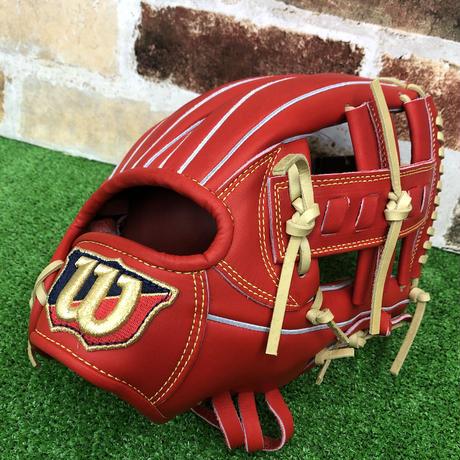 【限定】ウイルソン 硬式グローブ WBW100750(D5型) 高校野球対応 Eオレンジ 型付け無料