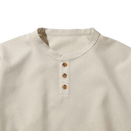 NYLON CHAMBRAY SHIRTS (BEIGE)