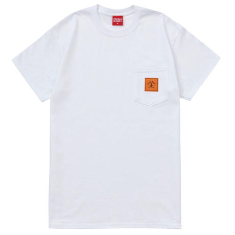 SQUARE LOGO POCKET S/S TEE(WHITE)