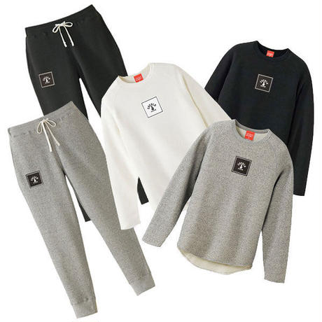 SQUARE LOGO SWEAT PANTS (BLACK)
