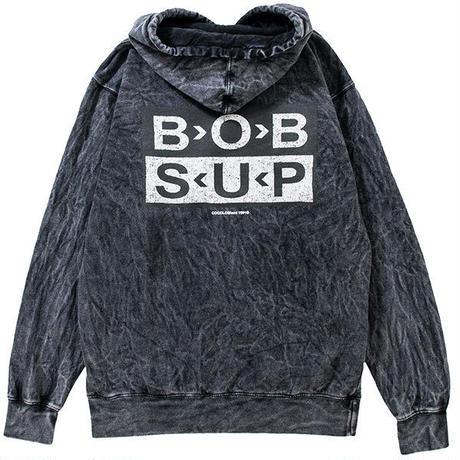 B>O>B S<U<P HOODIE(WASH BLACK)